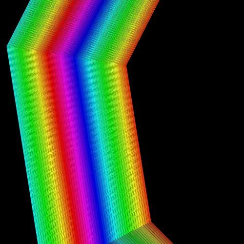 Rainbow Closeup Stripe