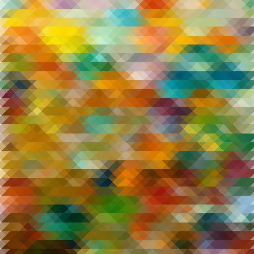 Rainbow Color Triangle Pattern