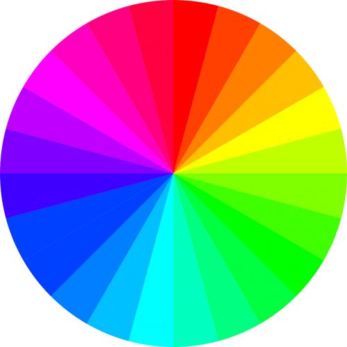 rainbow colors circle color spectrum