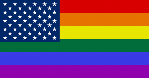 rainbow flag usa and lgbt glbt