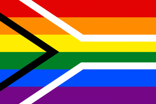 rainbow flag south africa symbol