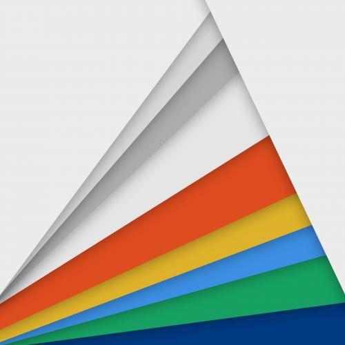 Rainbow Of Triangles