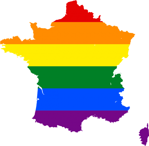 rainbow stripes france symbol
