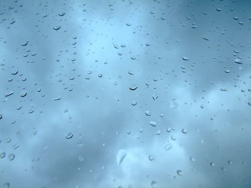 raindrop sky blue