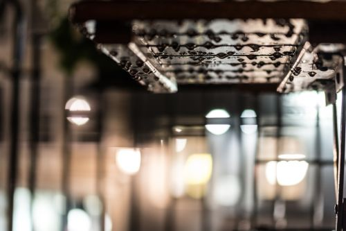 raindrops table bokeh
