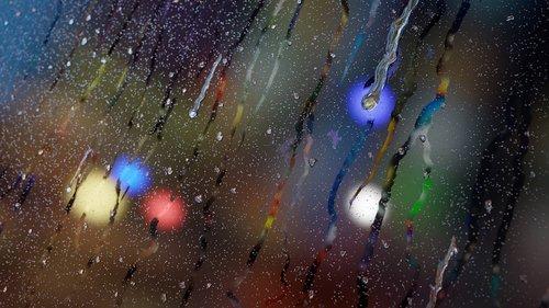 raining  wet window  glass
