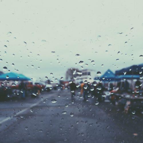 raining rain drops water