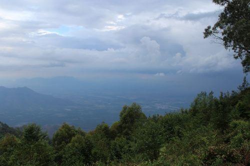 rainy dense clouds