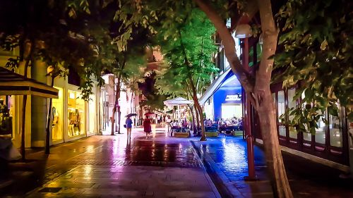 Rainy Athens Evening