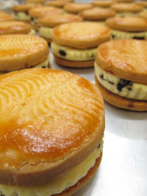 raisin sandwich cake baked goods