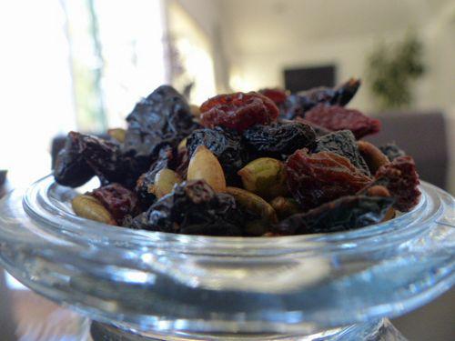 Raisins And Nuts Close-up