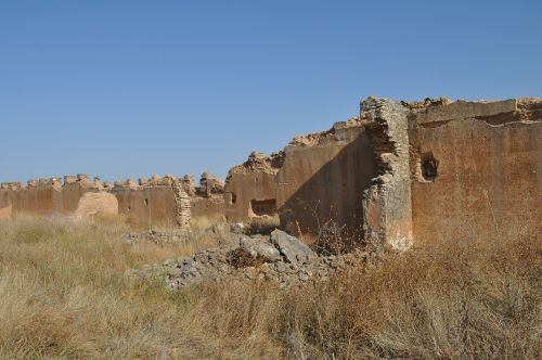 rammed earth ruin remains