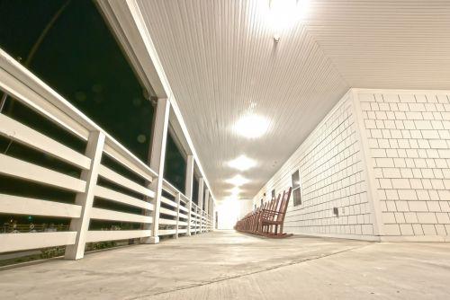 Ranch Patio At Night