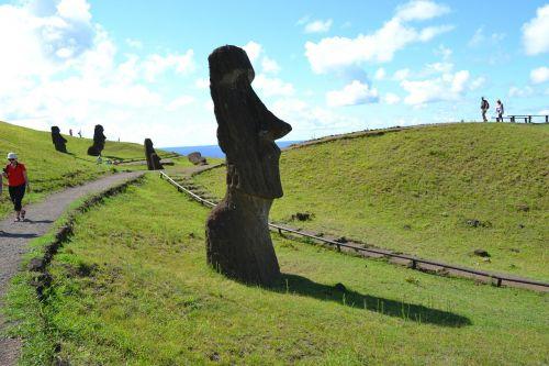 rapa nui easter island moai