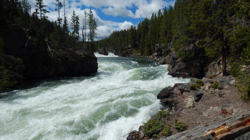 rapids water rapid waterfall