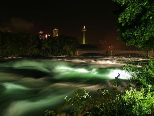 rapids niagara falls night