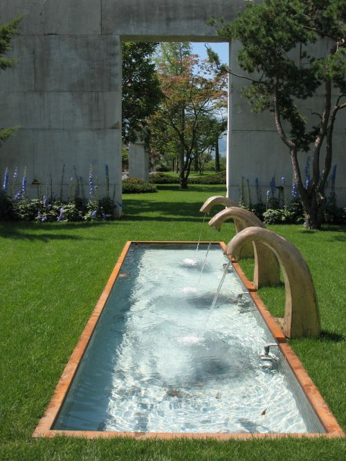 rapperswil garden water feature