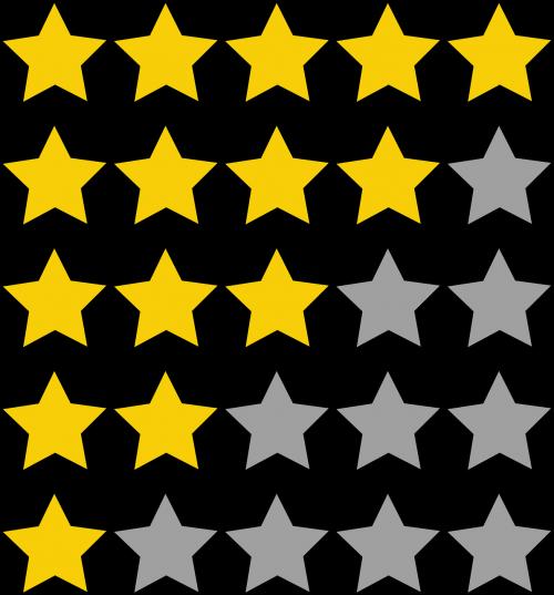 ratings stars quality