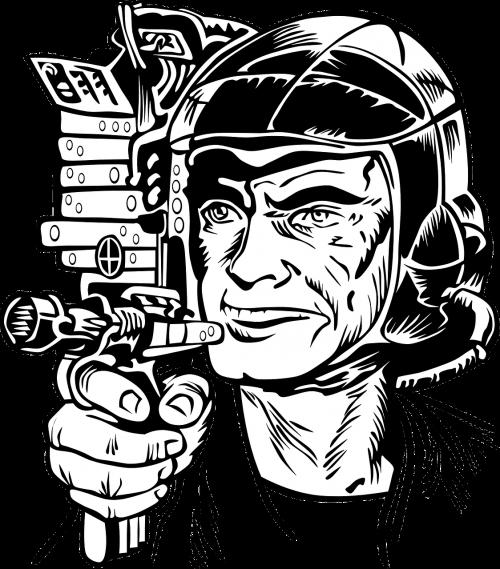 ray gun science fiction laser gun