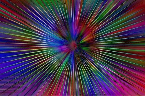 rays colorful laser