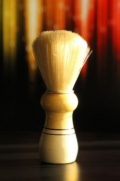 razor shaving brush holders hair