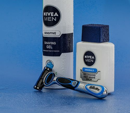 razor shaving cream aftershave
