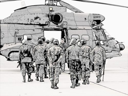 Reaction Force To Board Helicopter