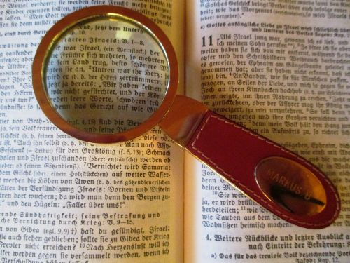 read magnifying glass bible