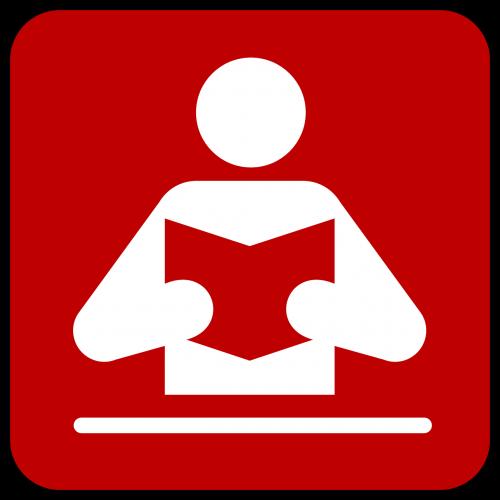 reader book symbol