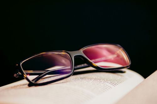 reading eyeglasses book