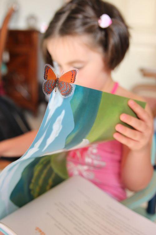 reading little girl book