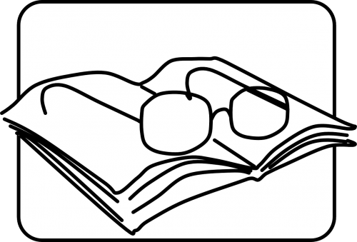 reading glasses prose book