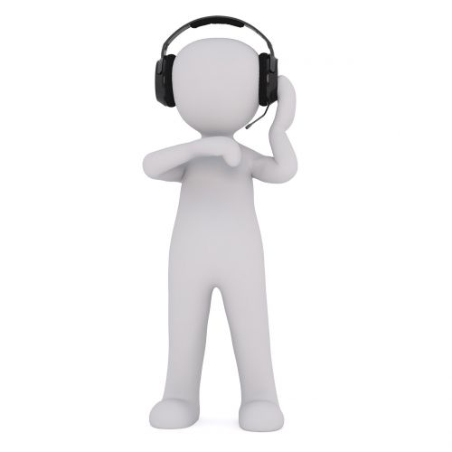 headphones music work