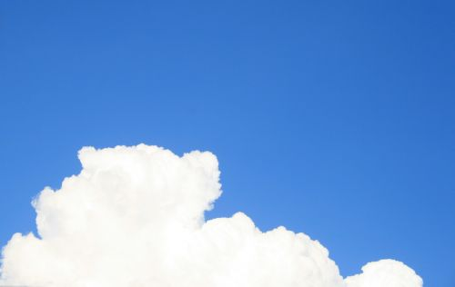 dangus, mėlynas, debesis, balta, tikrai baltas debesys