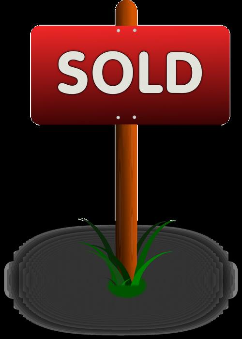 realtor sign sold