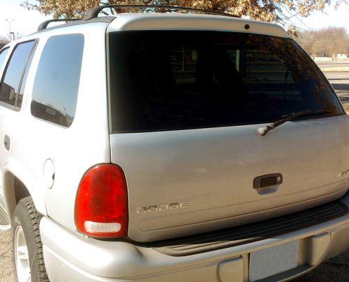 Rear Window Of SUV