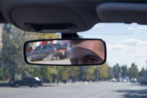 rearview mirror windshield car