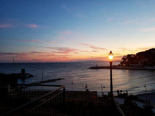 recco  sunset  liguria