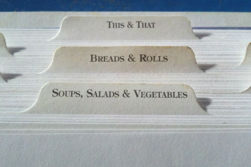 recipe tab index