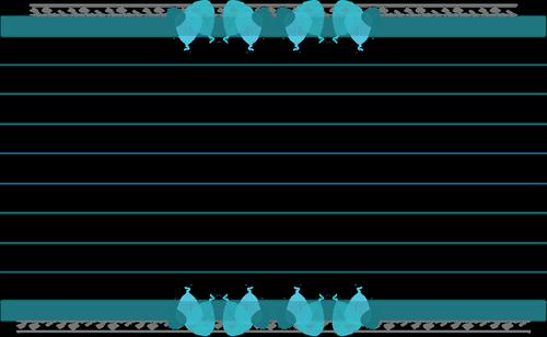 recipe card  blue  leaf