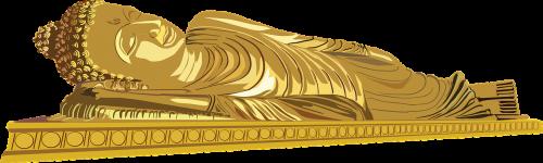 reclining buddha buddha gold