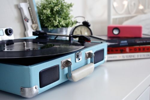 record vintage record player