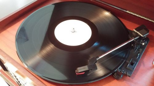 record player turntable record