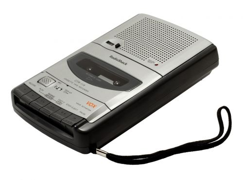recorder cassette built-in microphone