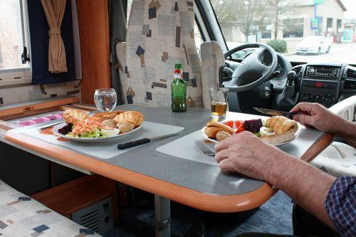 recreational vehicle rv eating