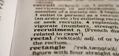recruitment word dictionary