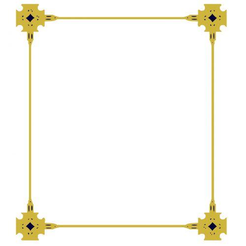 Rectangle Gold Frame