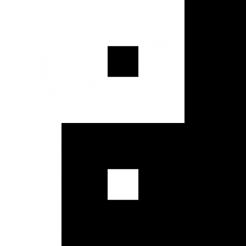 rectangular yin and yang harmony