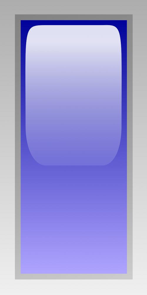rectangular blue led