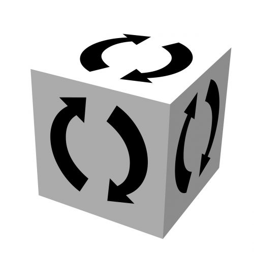 recycle logo cube